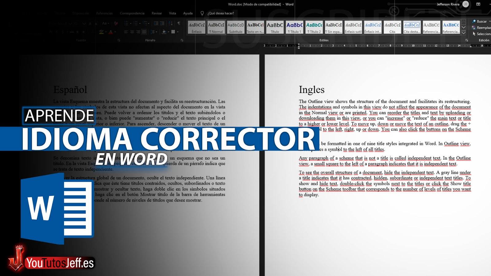 Cambiar el Idioma del Corrector Ortográfico de Word