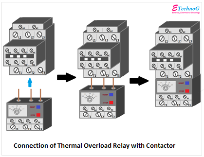 connection of overload relay with contactor