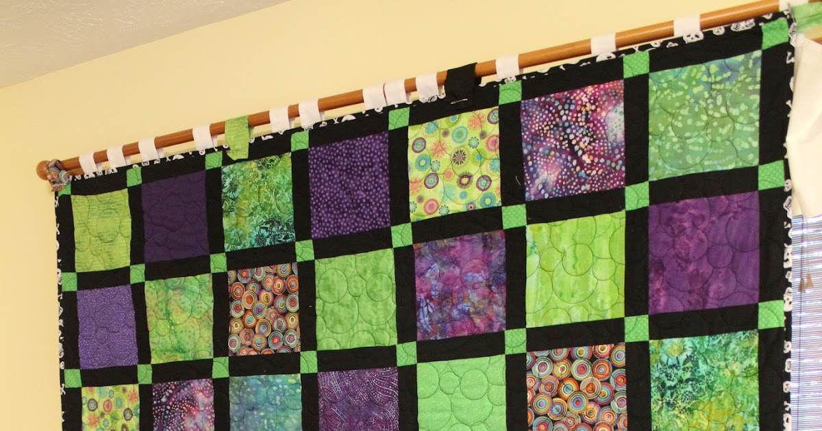 Ohio Thoughts Easy Block Quilt With Sashing