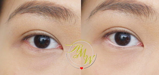 before and after photo of Cargo Swimmables Eye Pencil review in Secret Beach