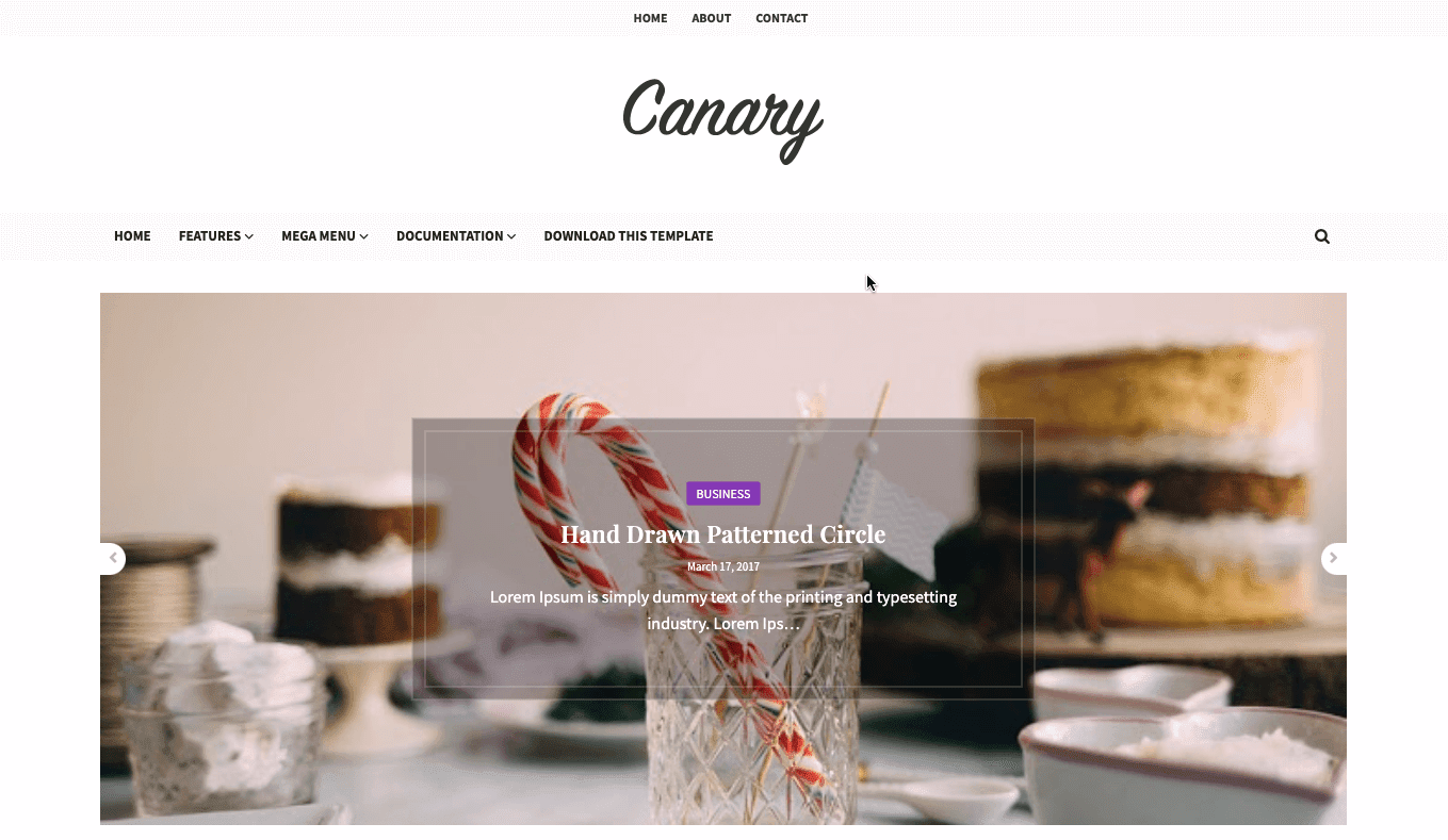 Canary v1.0 - Responsive Minimal Blogger Template