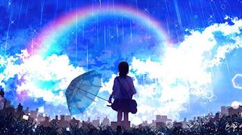 Anime, Girl, Rainbow, Scenery, Raining, Umbrella, 4K, #4.2403