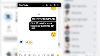 Cách đổi màu Facebook Messenger thành màu đen 2018