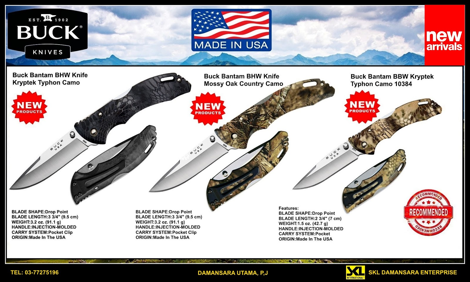Buck Bantam Foldable Knives now available at our Damansara Utama outlet!!!