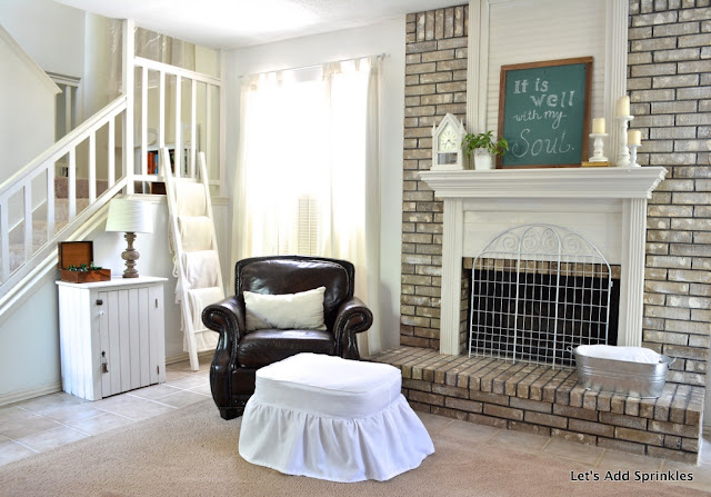 Chalkboard, Farmhouse Style, White, Mantel, Fireplace