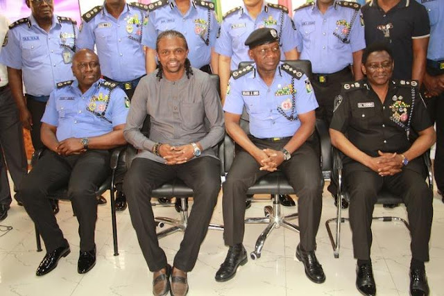 Kanu Nwankwo on Monday, December 18, paid a courtesy visit to the Inspector-General of the Nigeria Police Force