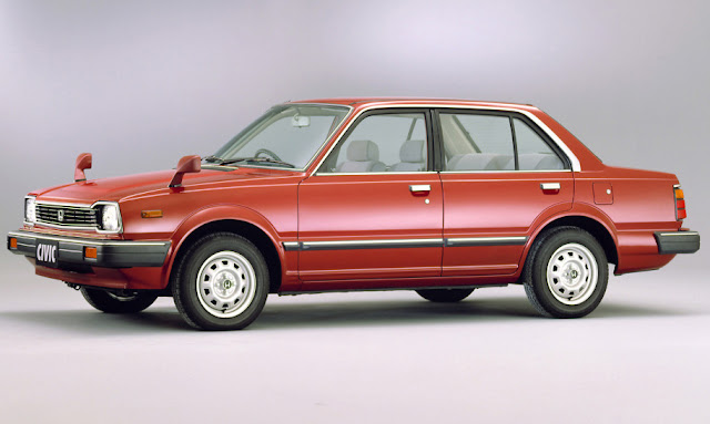 1982 Honda Civic Second Generation 4-door Sedan - Red