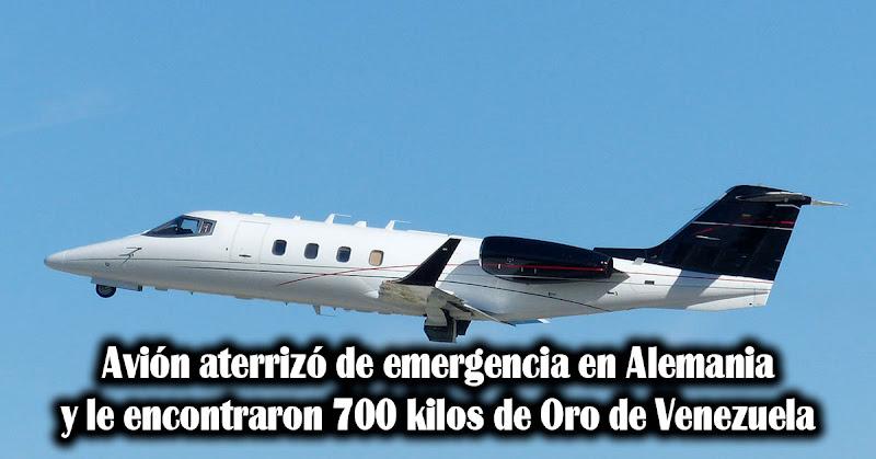 Avión aterrizó de emergencia en Alemania y le encontraron 700 kilos de Oro de Venezuela