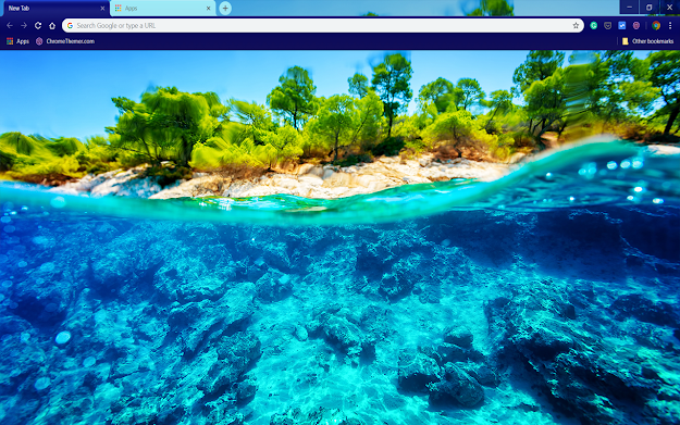 Underwater Island Google Chrome Theme