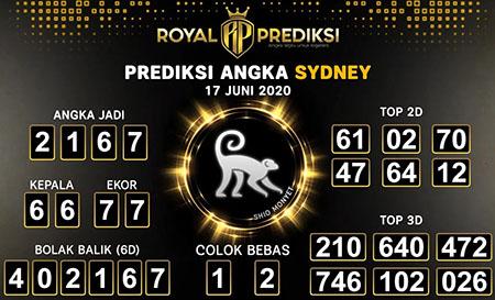 Syair Sydney Rabu 17 Juni 2020 - Royal Prediksi