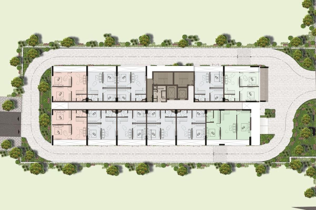 Mặt bằng tầng 15 duplex tại Harina View