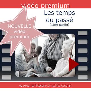 vidéo premium, les temps du passé, le passé composé, l'imparfait, le plus-que-parfait, conjugaison française, le FLE en un 'clic'