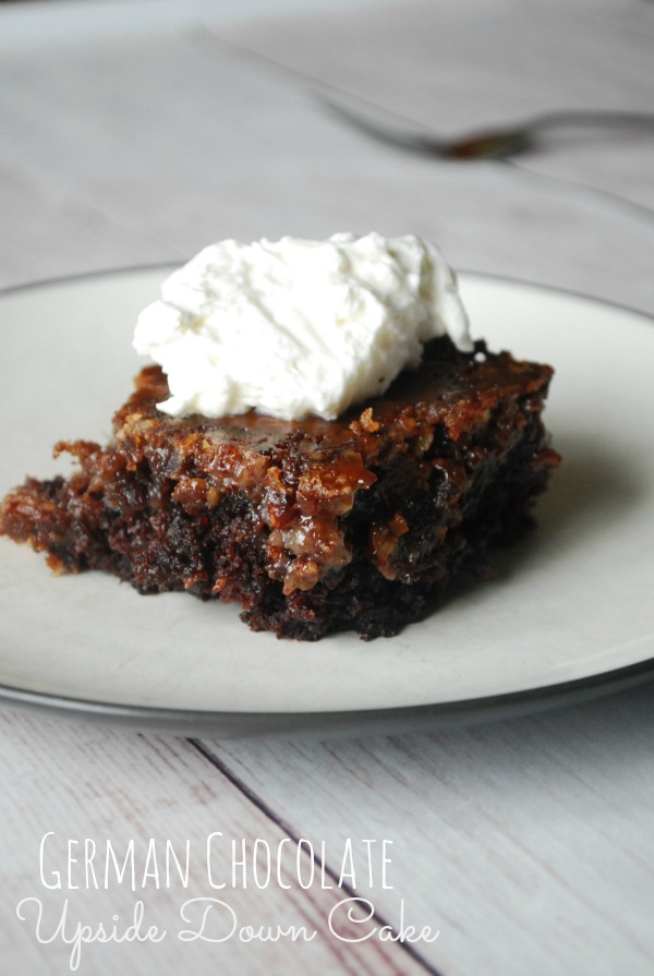 German Chocolate Upside Down Cake - The Gingered Whisk