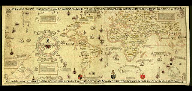 Fernão Magalhães provou que era possível contornar o Novo Mundo pelo Sul e constatou a existência de um larguíssimo oceano até então desconhecido.