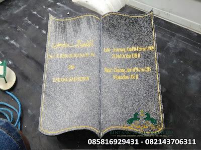 Batu Nisan Buku | Batu Nisan Granit