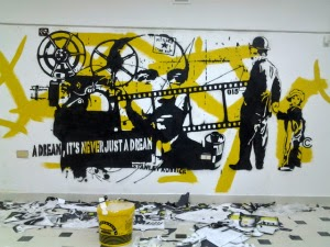 "Stencil laboratory ""A Dream in never just a dream""."