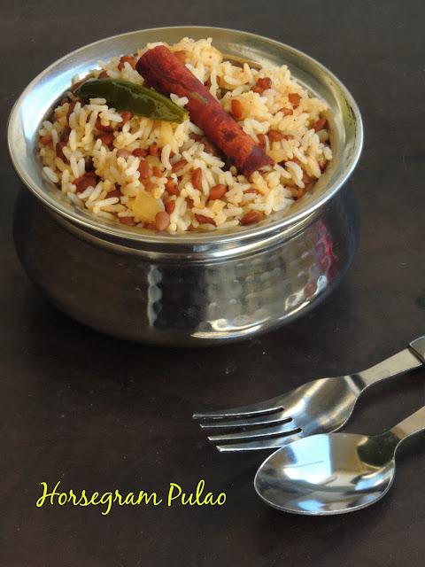 horsegram rice, horsegram pulao