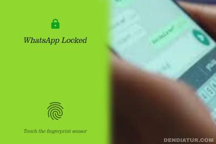 Cara mengaktifkan fitur fingerprint lock di whatsapp terbaru