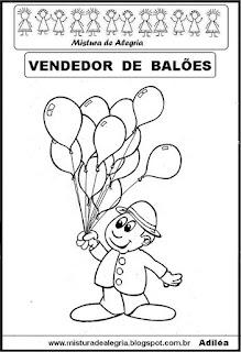 Desenho de vendedor para colorir