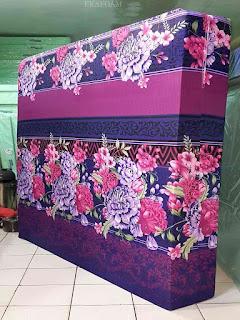 Kasur inoac motif bunga diva ungu