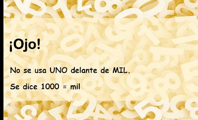 los numerales en español