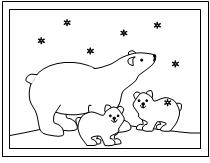 early play templates: Polar Bear color in sheets