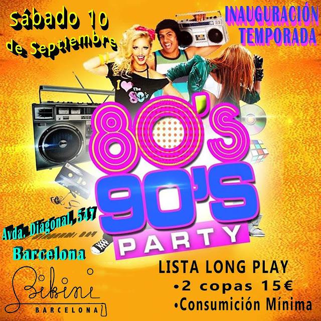 Flyer Fiesta 80s & 90s Inauguración Temporada
