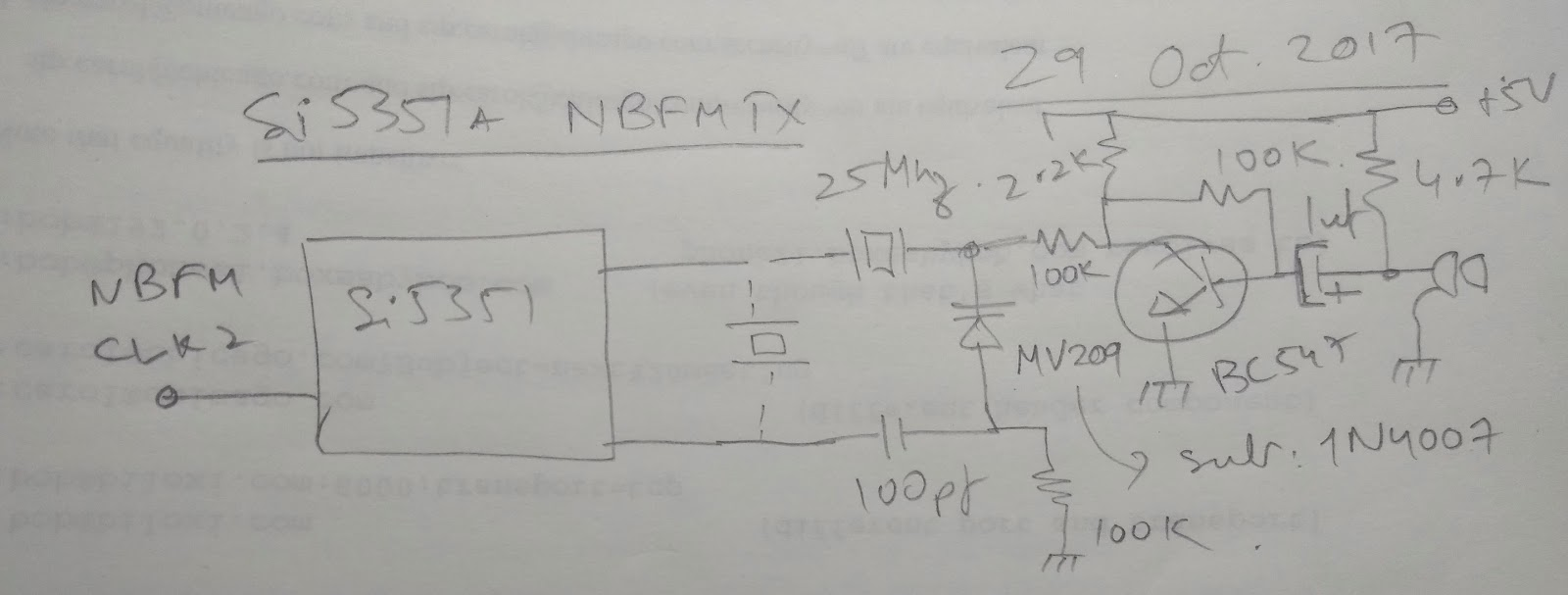 Bitx Hacks 2017 Far Circuits Bitx20 Circuit Board Fabrication Series With The Reference Crystal Oscillator And Drive It Audio I Used A Very Simple Amplifier To Boost Up Here Is