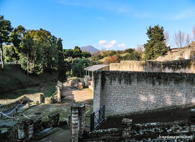 Muralhas de Pompeia na Porta Nocera
