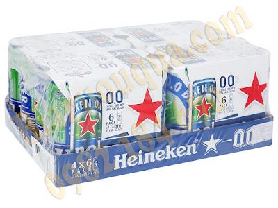Thùng bia Heineken 0.0 độ cồn 24 lon