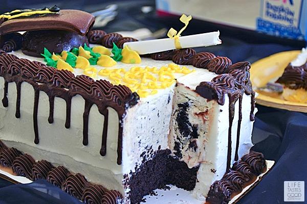 Graduation Ice Cream Cake Life Tastes Good