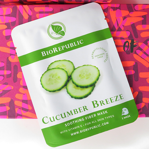 Jan 2016 Birchbox: BioRepublic Cucumber Breeze Soothing Fiber Mask