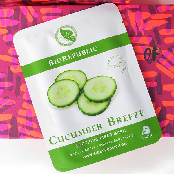 Jan 2016 Birchbox: BioRepublic Cucumber Breeze Soothing Fiber Mask