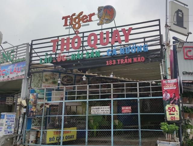 Địa chỉ quán Thỏ Quay-Lẩu và Hải sản: 183 Trần Não, Bình An, Quận 2