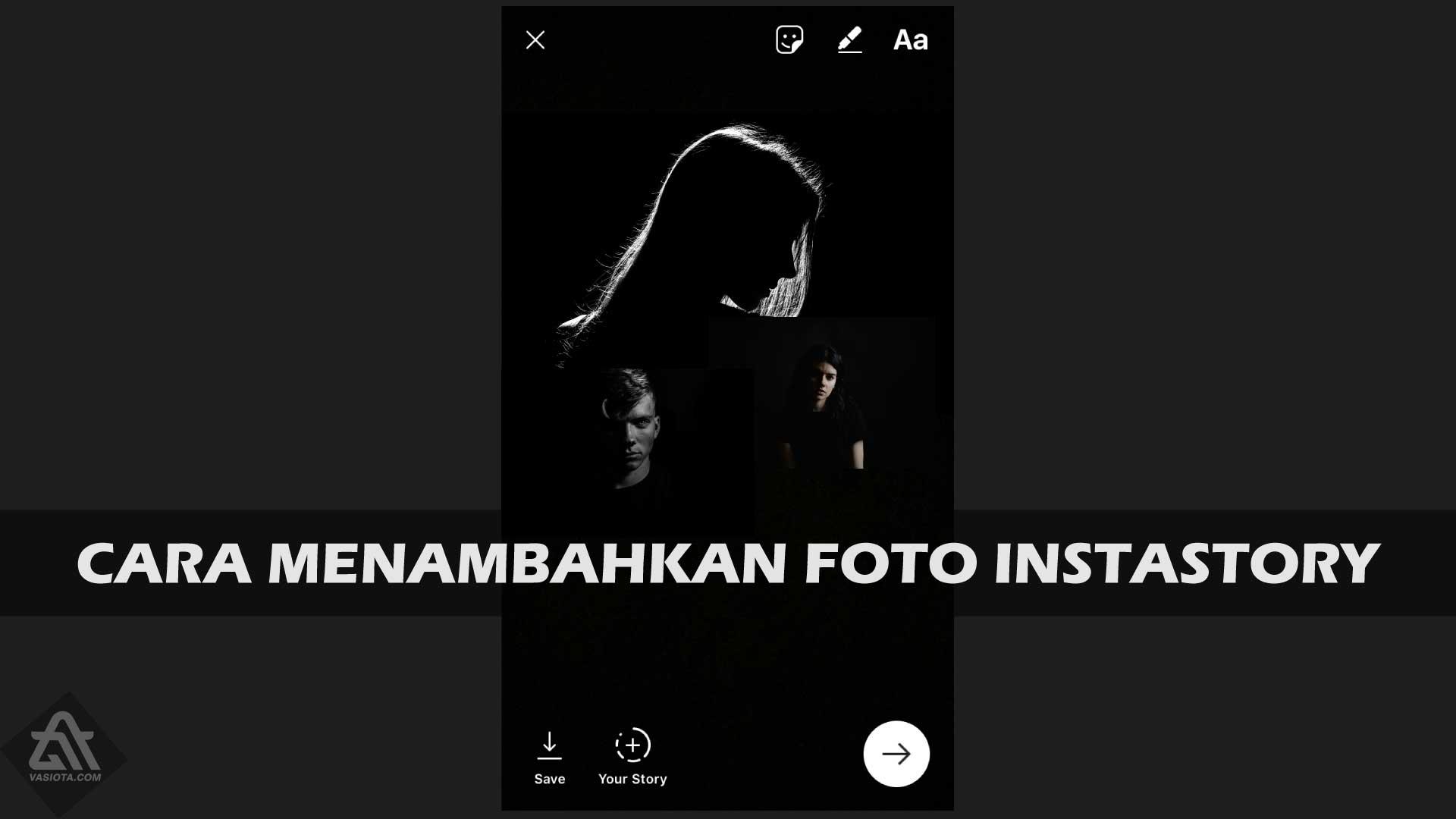 Cara Menambahkan Foto di Story IG