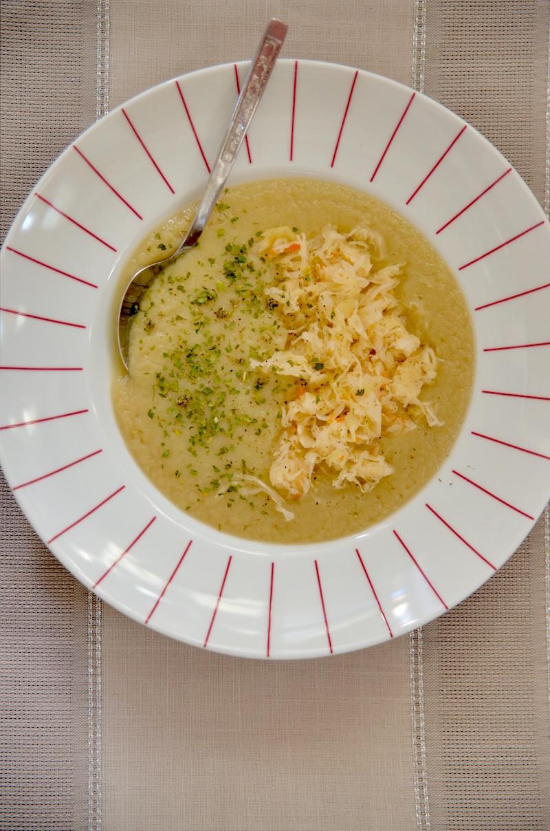 co jeść na poście Dąbrowskiej, Post dr Dąbrowskiej menu, Zupa krem z białych warzyw z kiszoną kapustą, Post dąbrowskiej zupa,