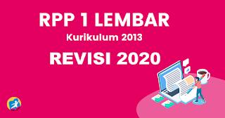 RPP 1 Lembar Bahasa Arab K13 Revisi 2020 Kelas 7, 8, 9 Khusus MTs