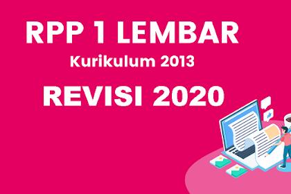 Unduh RPP K13 Revisi 2020 Mapel IPS Kelas 9 Format 1 Lembar