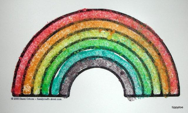 Tippytoe Crafts Crushed Fruit Loop Rainbows
