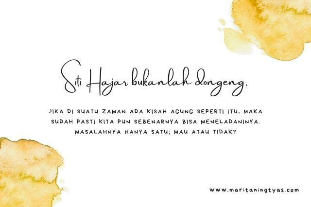 Siti Hajar bukanlah dongeng