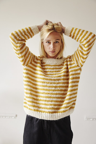 Pull Charlotte Sometime jaune stripes