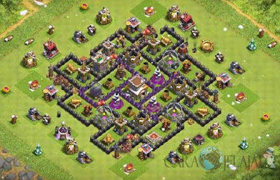 Base Hybrid TH 8 Clash Of Clans Terbaru Tipe 22