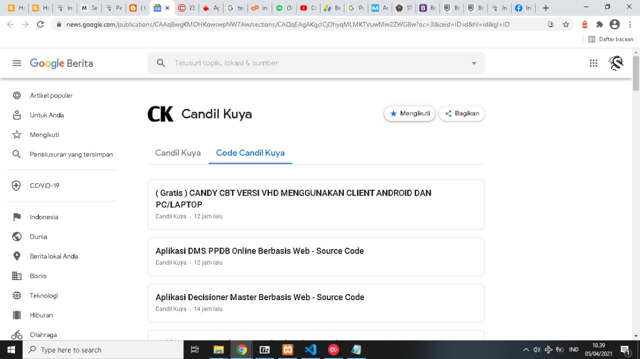 Google News Code Candil Kuya