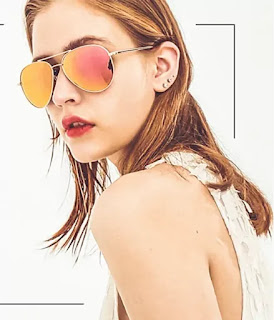 classic aviator metal frame spring hinges sunglasses