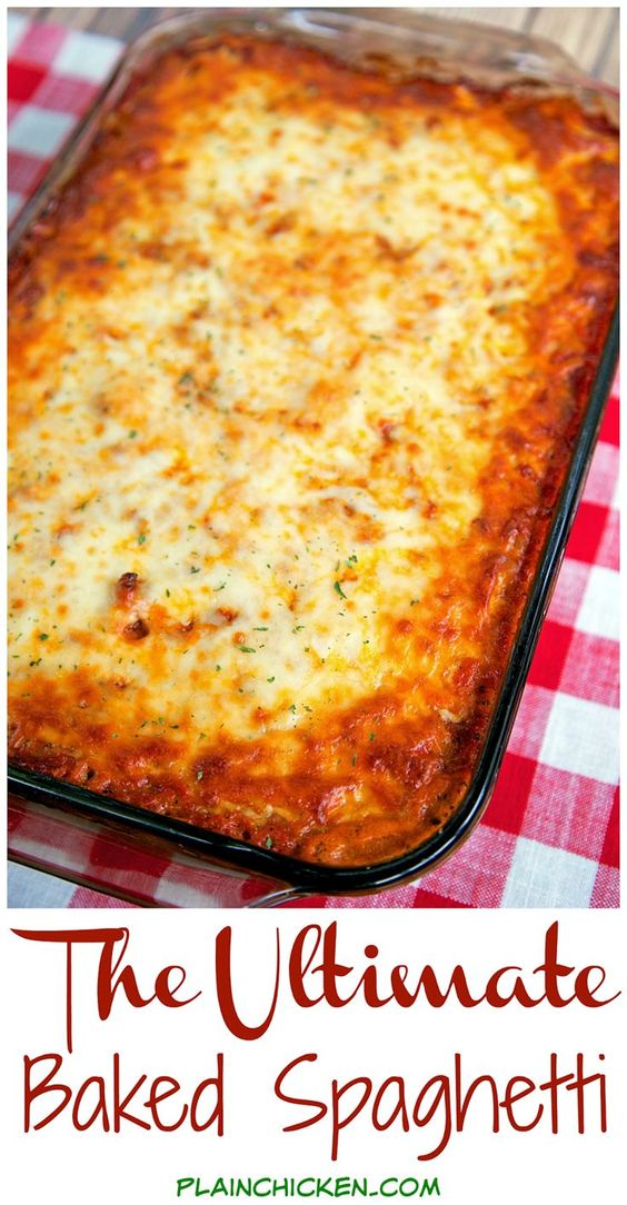 THE ULTIMATE BAKED SPAGHETTI #recipes #dinnerrecipes #dishesrecipes #dinnerdishes #dinnerdishesrecipes #food #foodporn #healthy #yummy #instafood #foodie #delicious #dinner #breakfast #dessert #lunch #vegan #cake #eatclean #homemade #diet #healthyfood #cleaneating #foodstagram