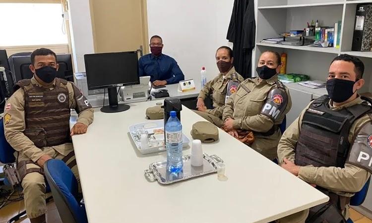 Comando da 34ª CIPM faz visita institucional ao Juiz da comarca de Barra da Estiva