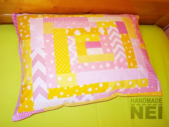 """Handmade Nel: Пачуърк калъфка за възглавница """"Изгрев"""""""