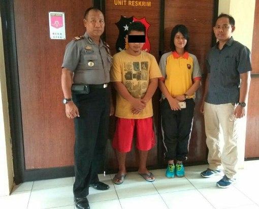 AS Pelaku Peristiwa Penyiraman Cairan Kimia  Ke Wajah Nur Asriyah Diamankan  di Mapolsek Batang