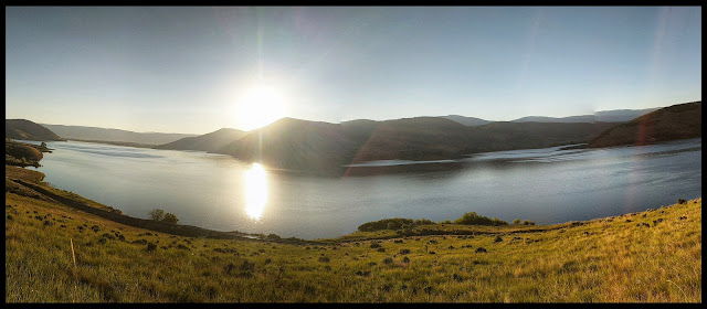 Panorama of Sunrise at Deer Creek Reservoir