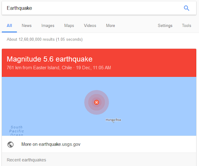 google earthquakes search